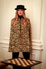 Bianca Yellow Leopard Cape