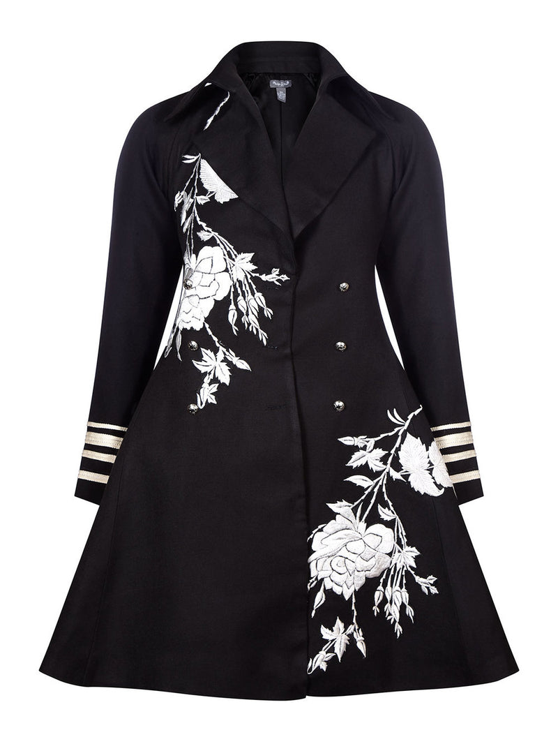 Leyla Floral Pea Coat/Dress