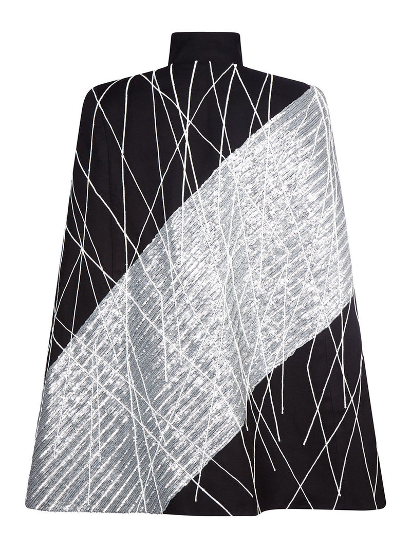 No 17 Sequin Black Cape