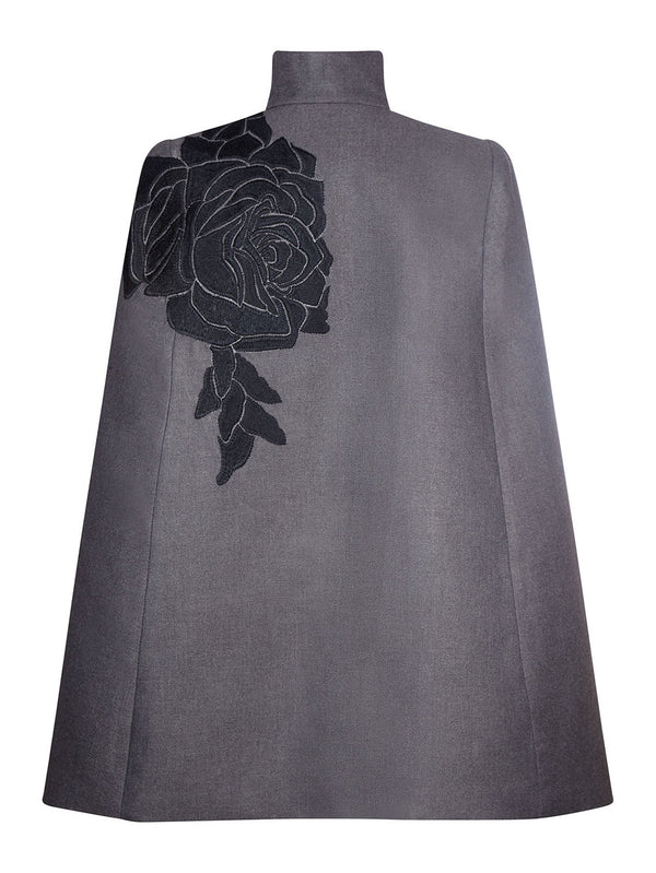 Mara Black Rose Cape
