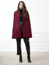 Bianca Red Leopard Cape