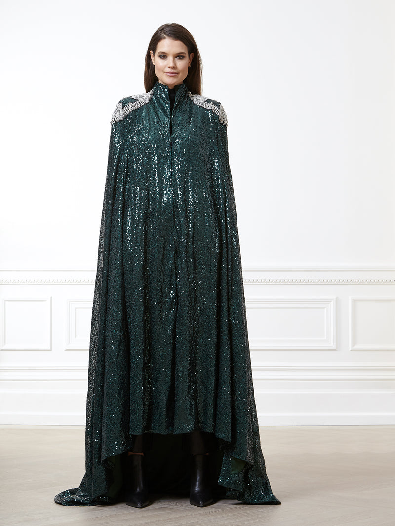 Emerald Sequin Cape