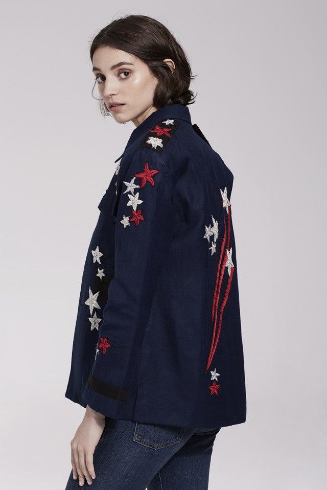 Stars and Stripe Navy Cargo Jacket