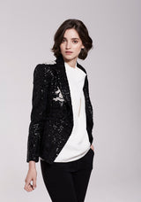 Lia Structured Sequinned Blazer 8019