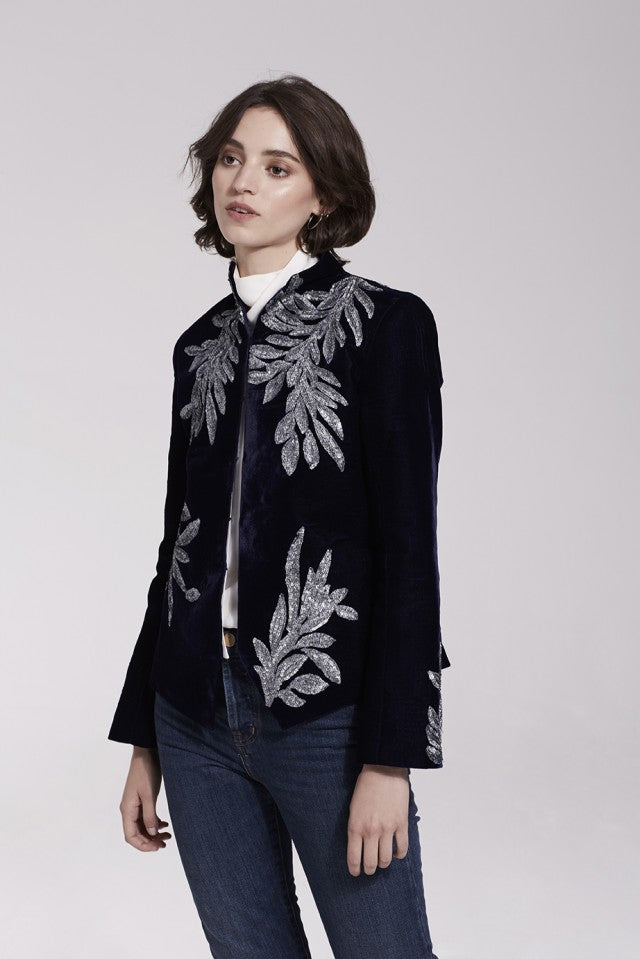 Gilt Leaf Velvet Jacket