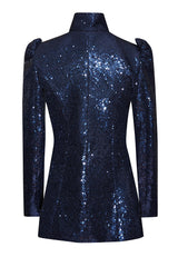 Audrey Flower Detail Sequin Jacket