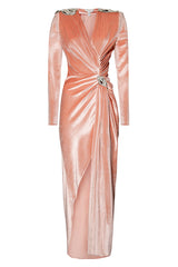 Patricia Dusty Pink Ruched Dress