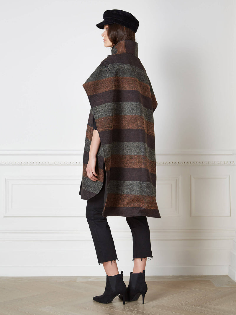 Sava Striped Poncho