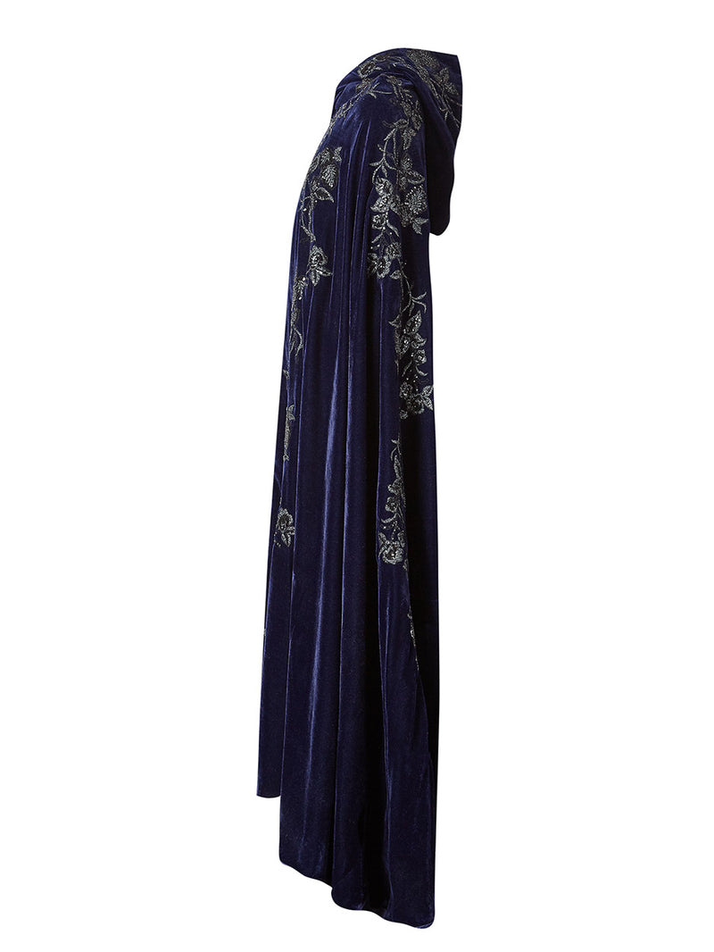 Elba Hooded Floor Length Cape