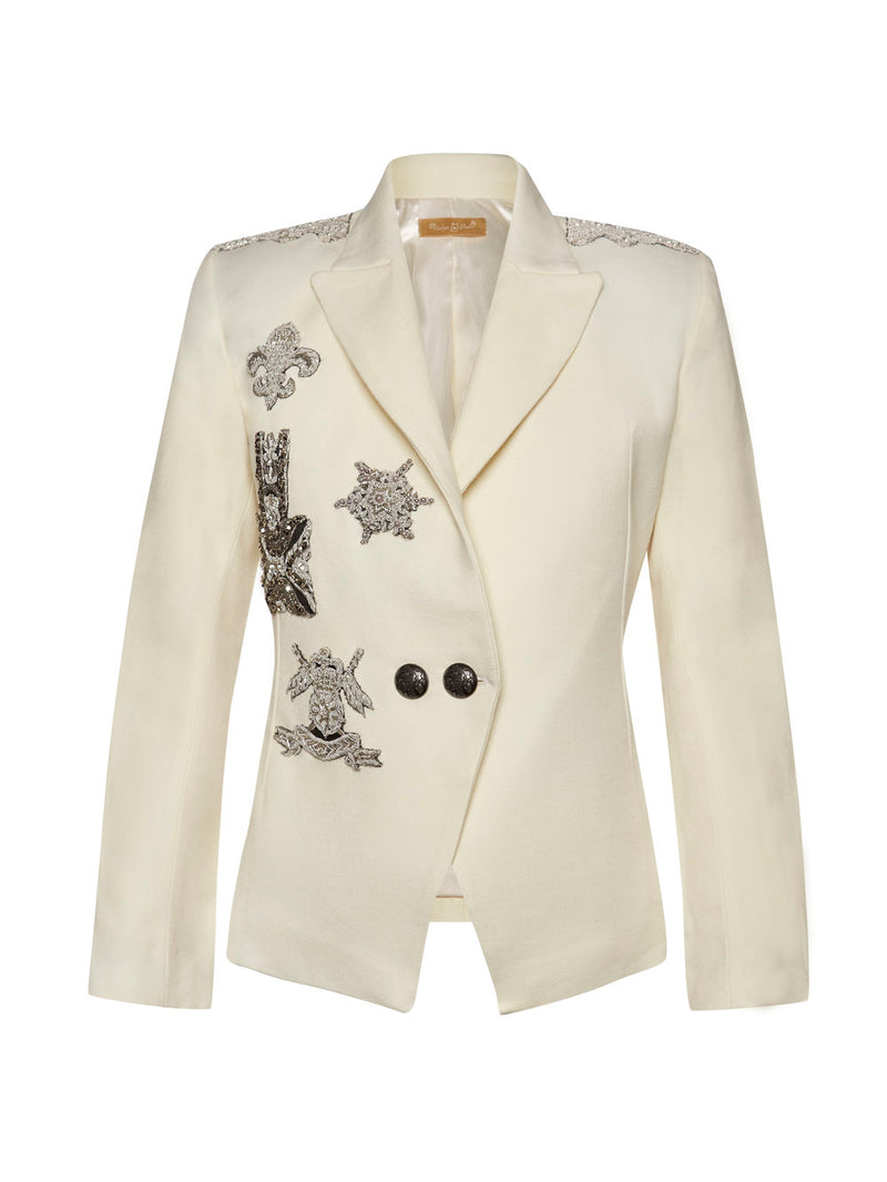 Sarah Cream Smoking Jacket