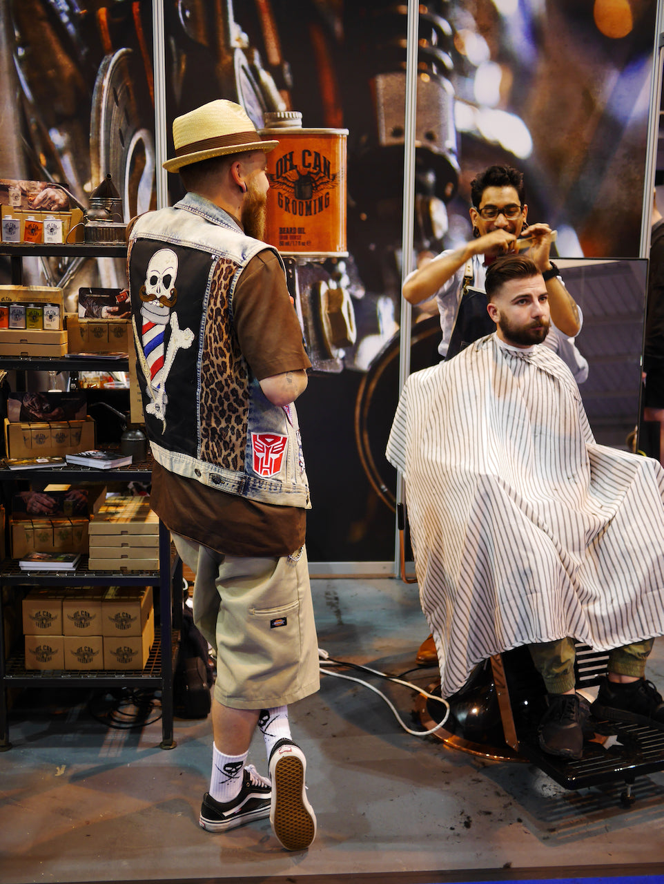 Oil Can Grooming Barber Connect Trade Show with Danny the Dogg Gio the New Kid