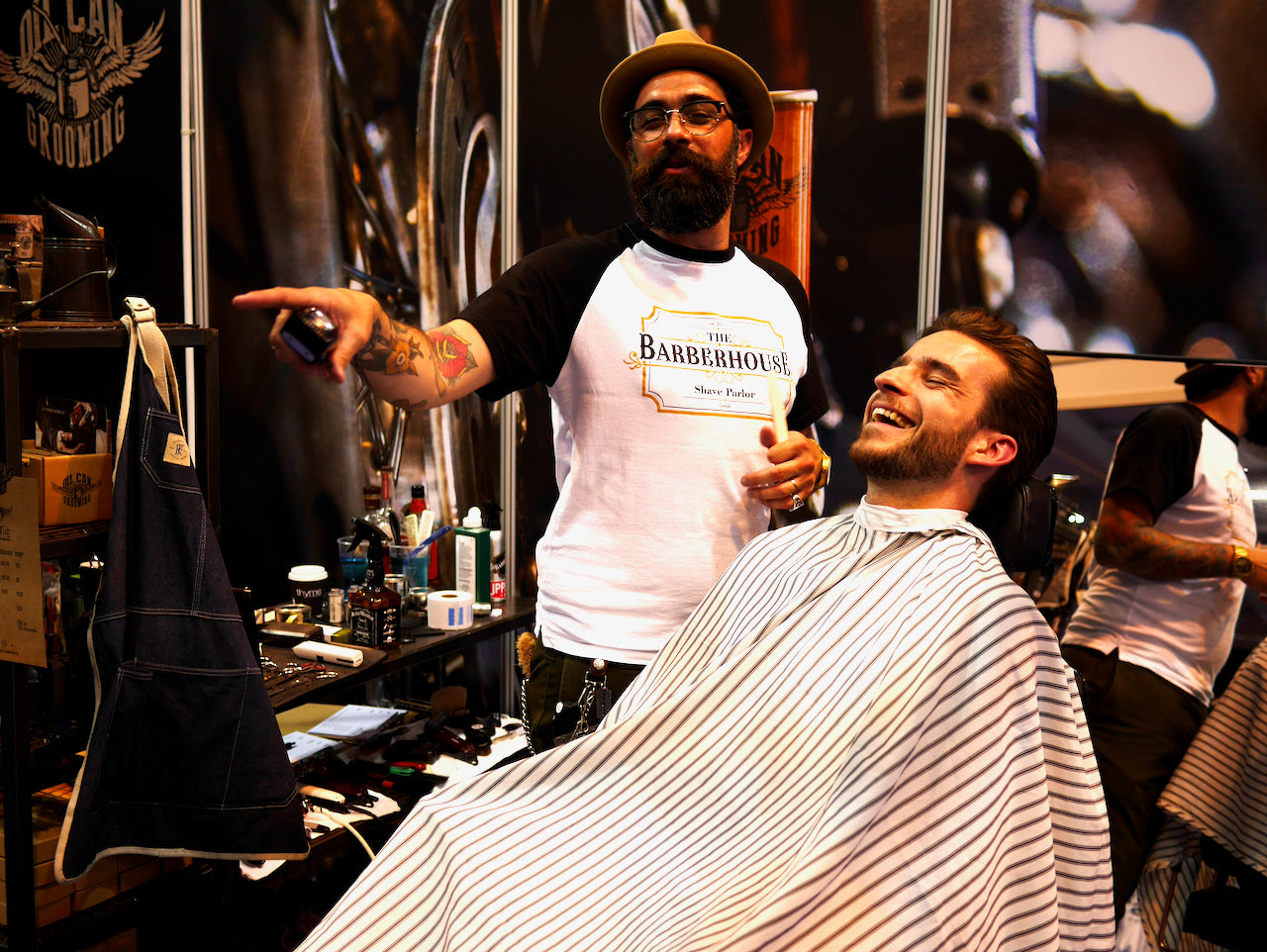 Oil Can Grooming Barber Connect Trade Show João Paulino Portugal