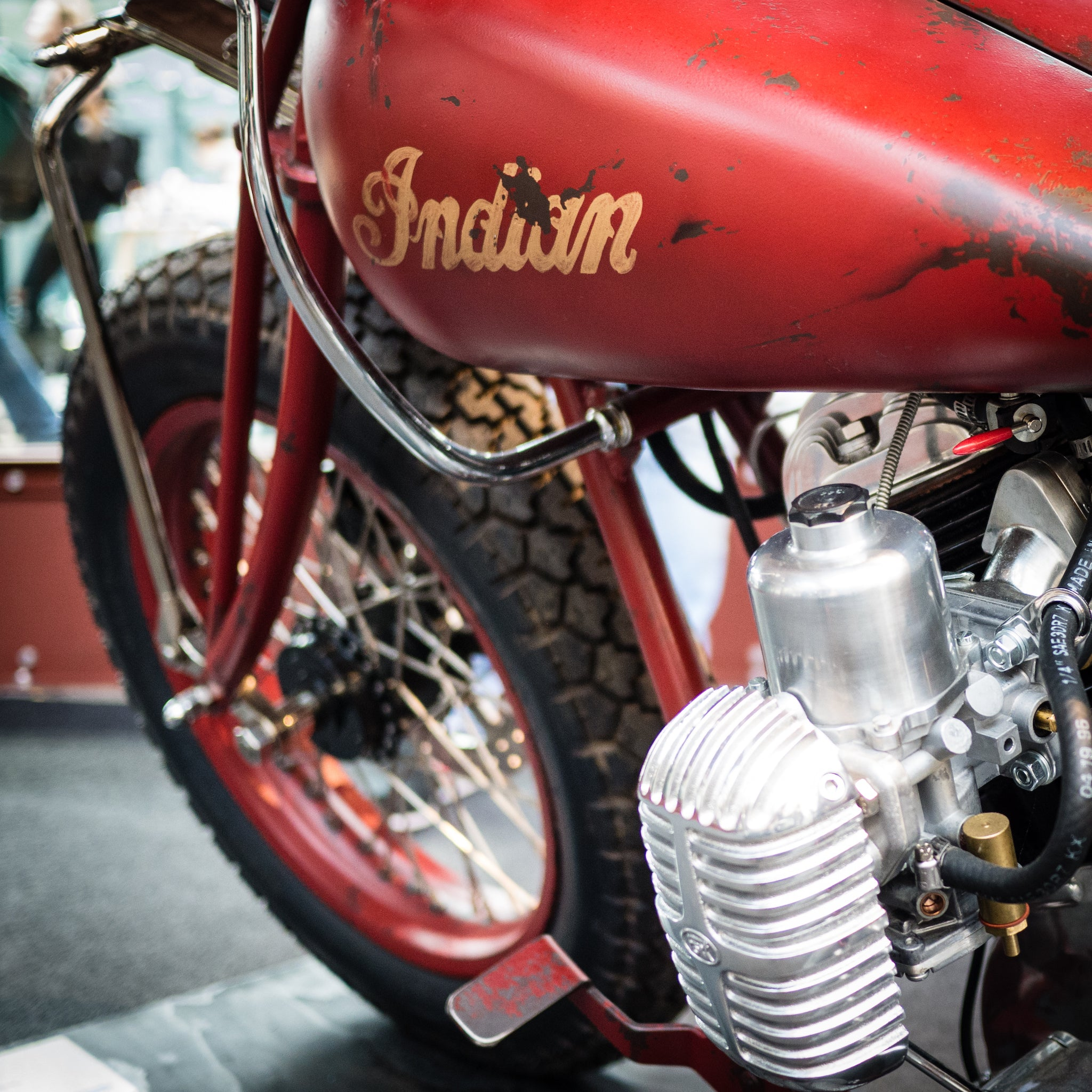 Oil Can Grooming Bike Shed event Tobacco Dock London custom Indian Motorcycle