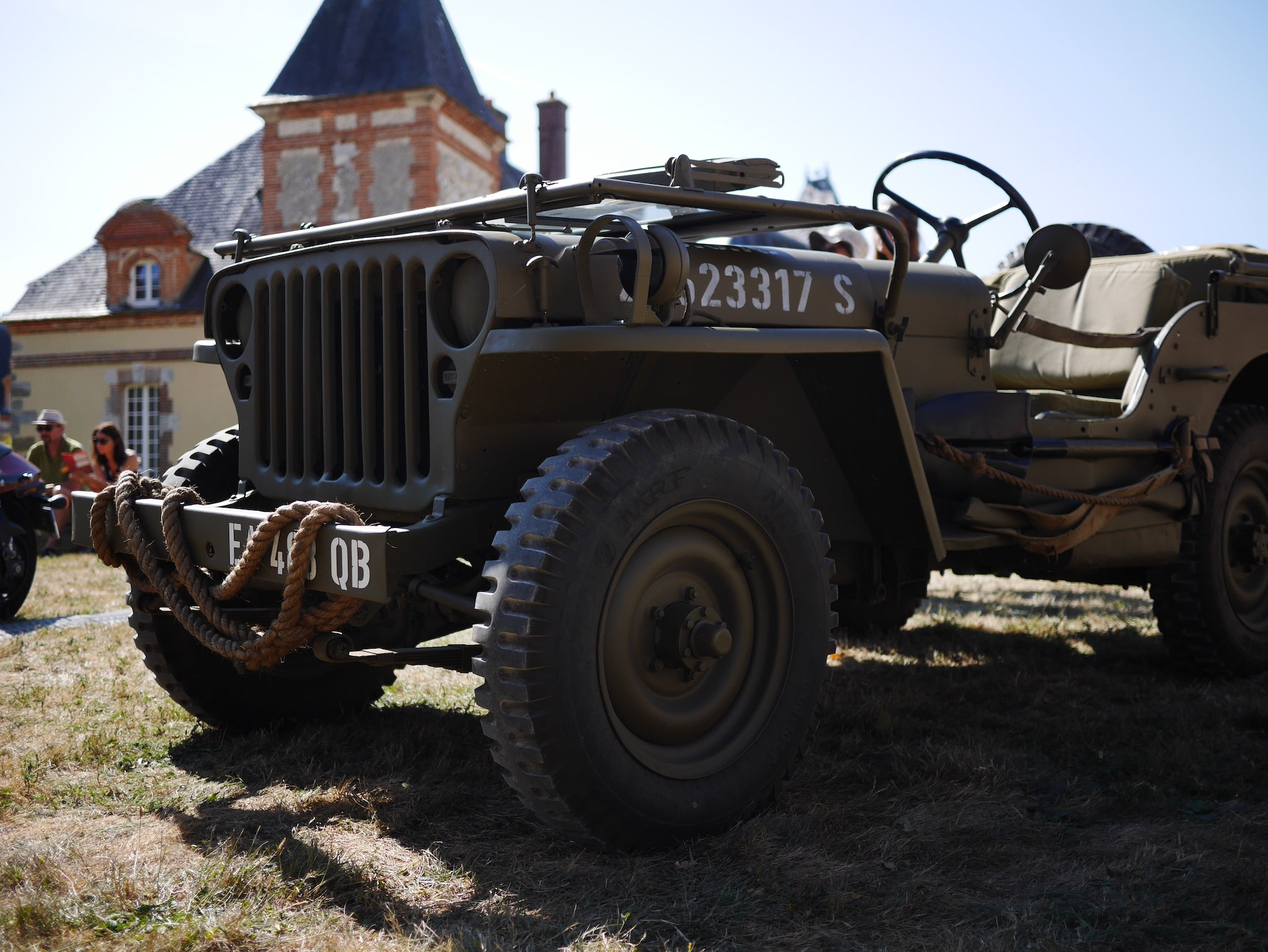 Oil Can Grooming Motors and Soul Festival Military Jeep France