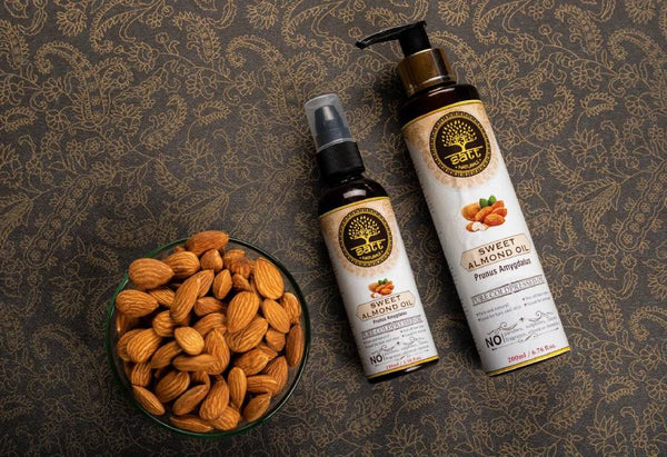 Sweet Almond Oil for skin, hair and good health