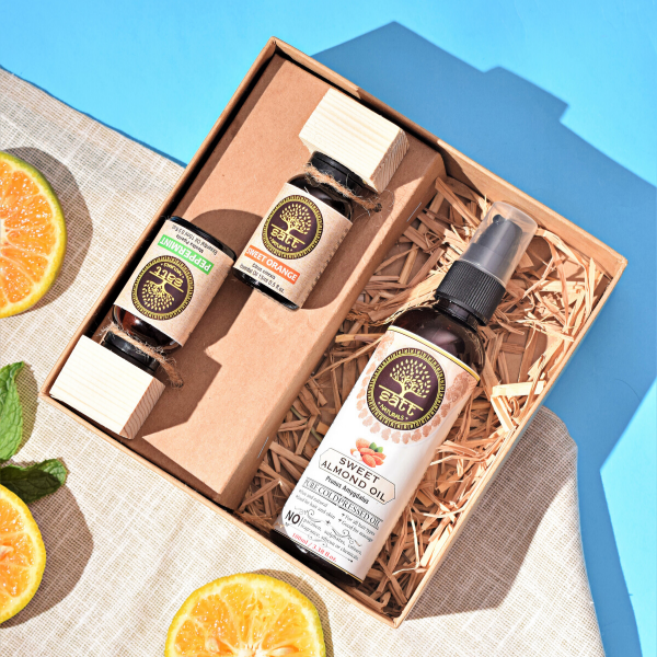 Mood Changer Kit (Two essential oils - 15ml, One carrier oil - 100ml) <br/><h2 class='ProductMeta__Vendor Heading u-h6'>Peppermint, Orange, Almond </h2>