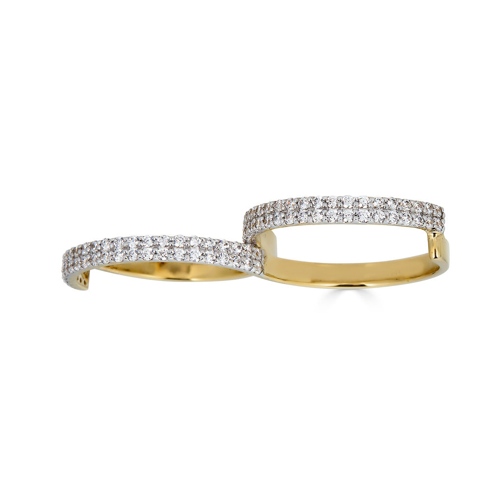 Fabri Infinity Single Loop Diamond Gold Ring
