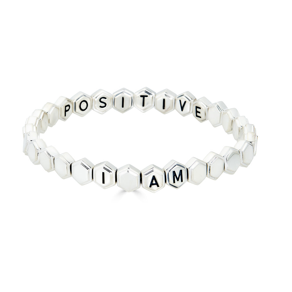 I AM POSITIVE Affirmation Bracelet