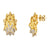 Stellated Stud Diamond Gold Earring
