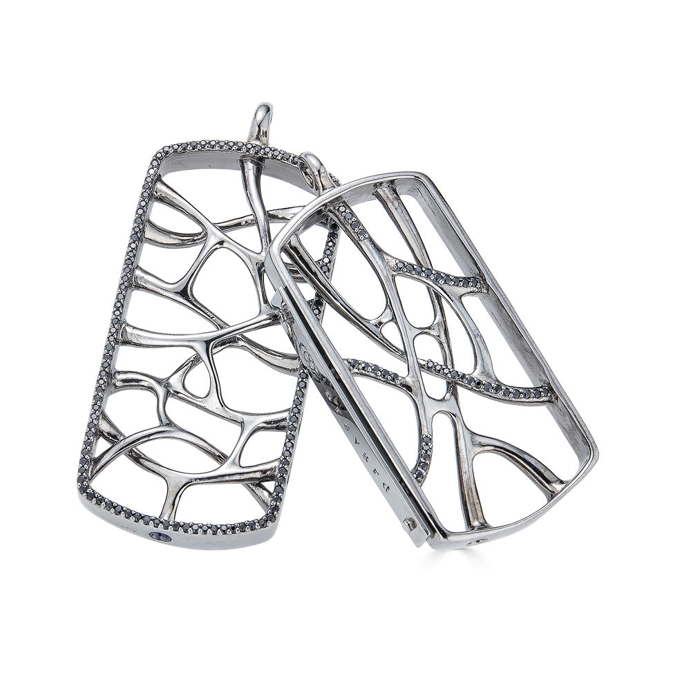 Web Silver Dog Tags