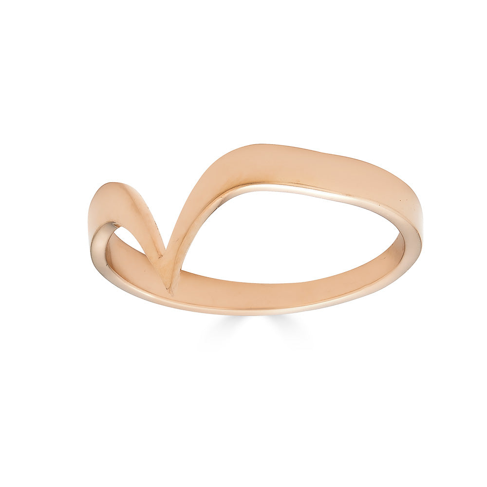 Fabri Single Stackable Rose Gold Ring
