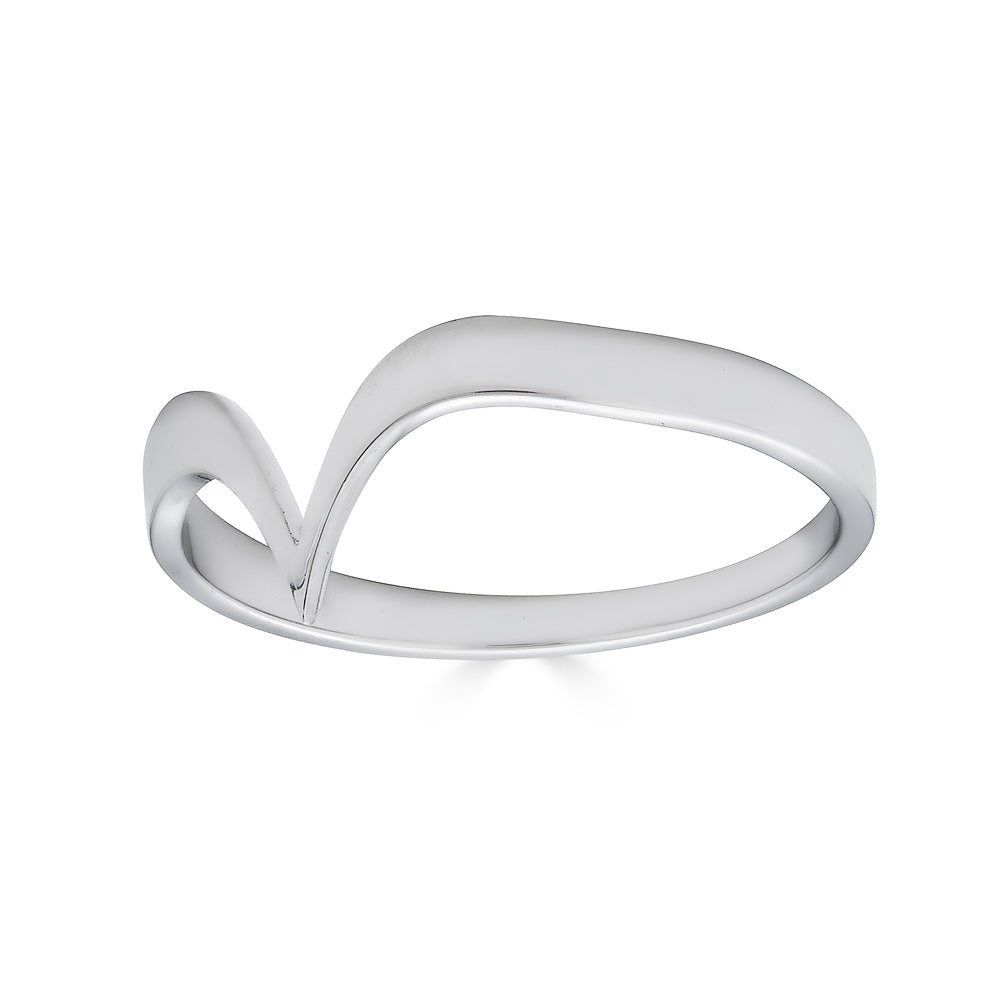 Fabri Single Stackable White Gold Ring