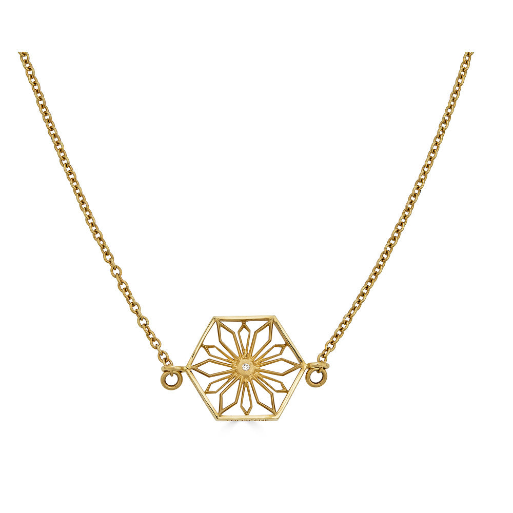 Snowflakes Romance Gold Necklace