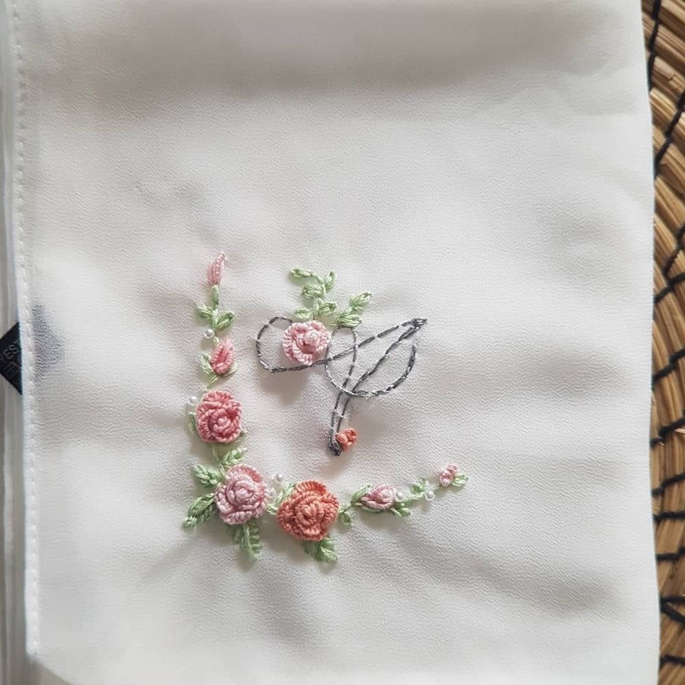 Victorian Hand embroidered Hijab