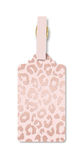 Blush Leopard Luggage Tag