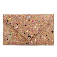 Load image into Gallery viewer, Speckled Cork Clutch