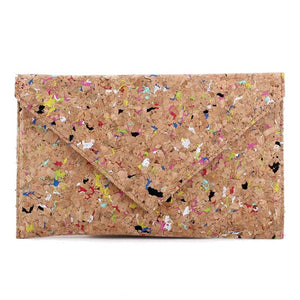 Speckled Cork Clutch