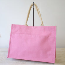 Load image into Gallery viewer, Mia Jute Pocket Tote