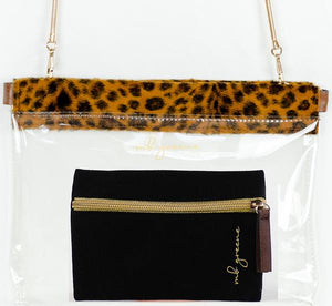 Gabi Hinged Leopard Purse