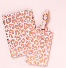 Load image into Gallery viewer, Blush Leopard Luggage Tag