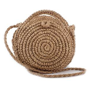 Spiral Straw Beach Crossbody