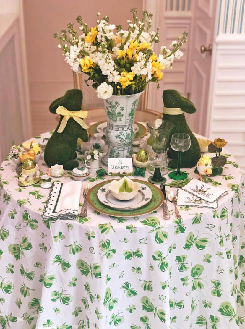 Green Butterfly Tablecloth