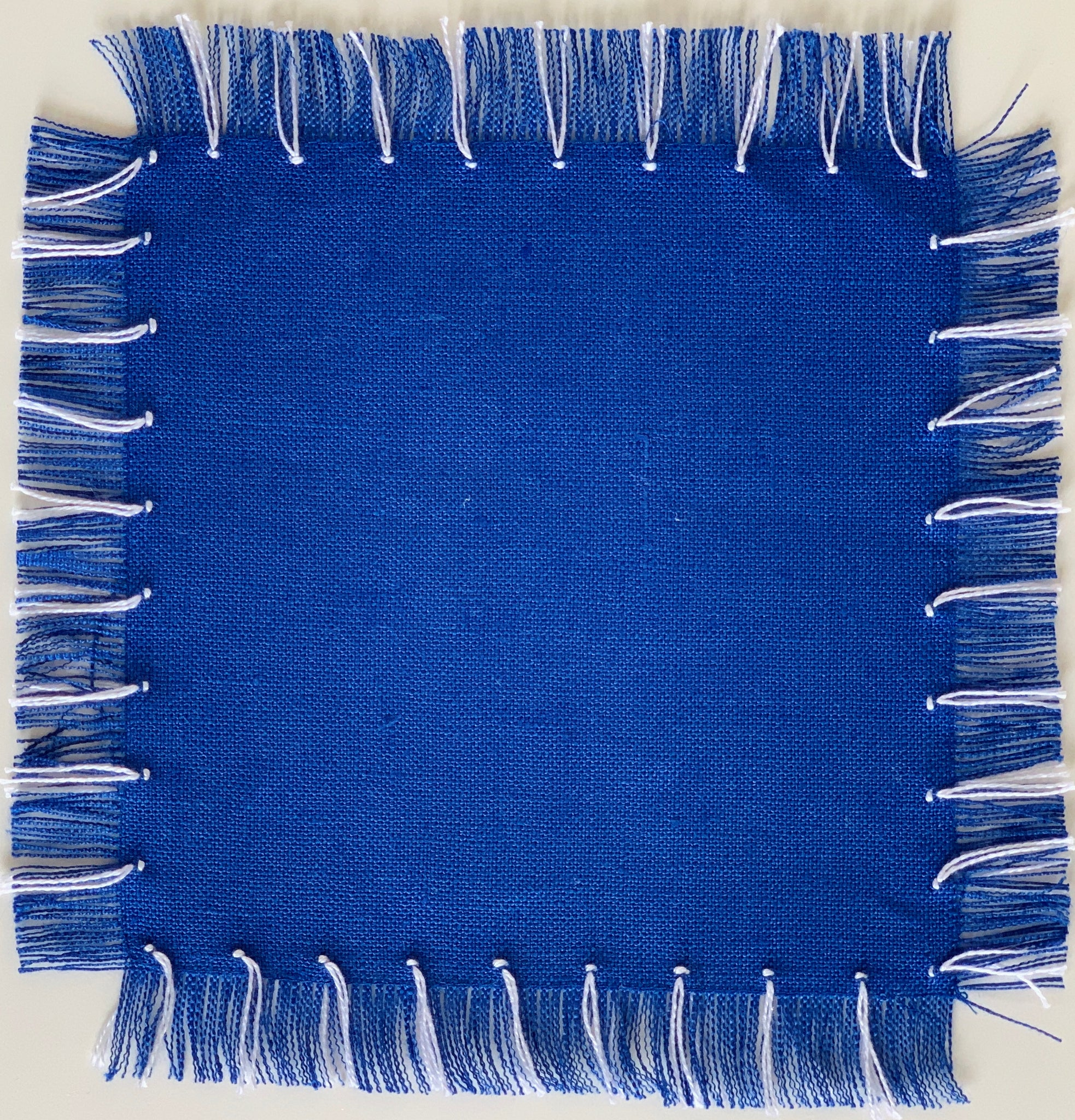Blue Fringe Cocktail Napkin