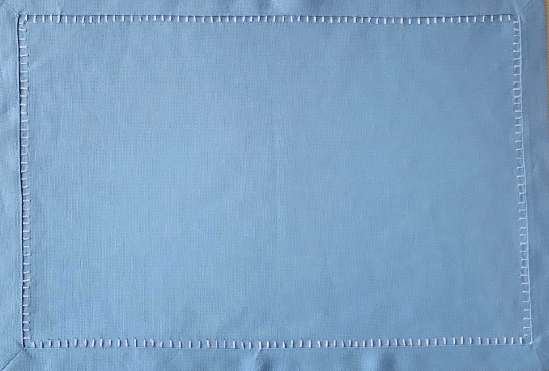 Blue and White Hemstitch Placemat