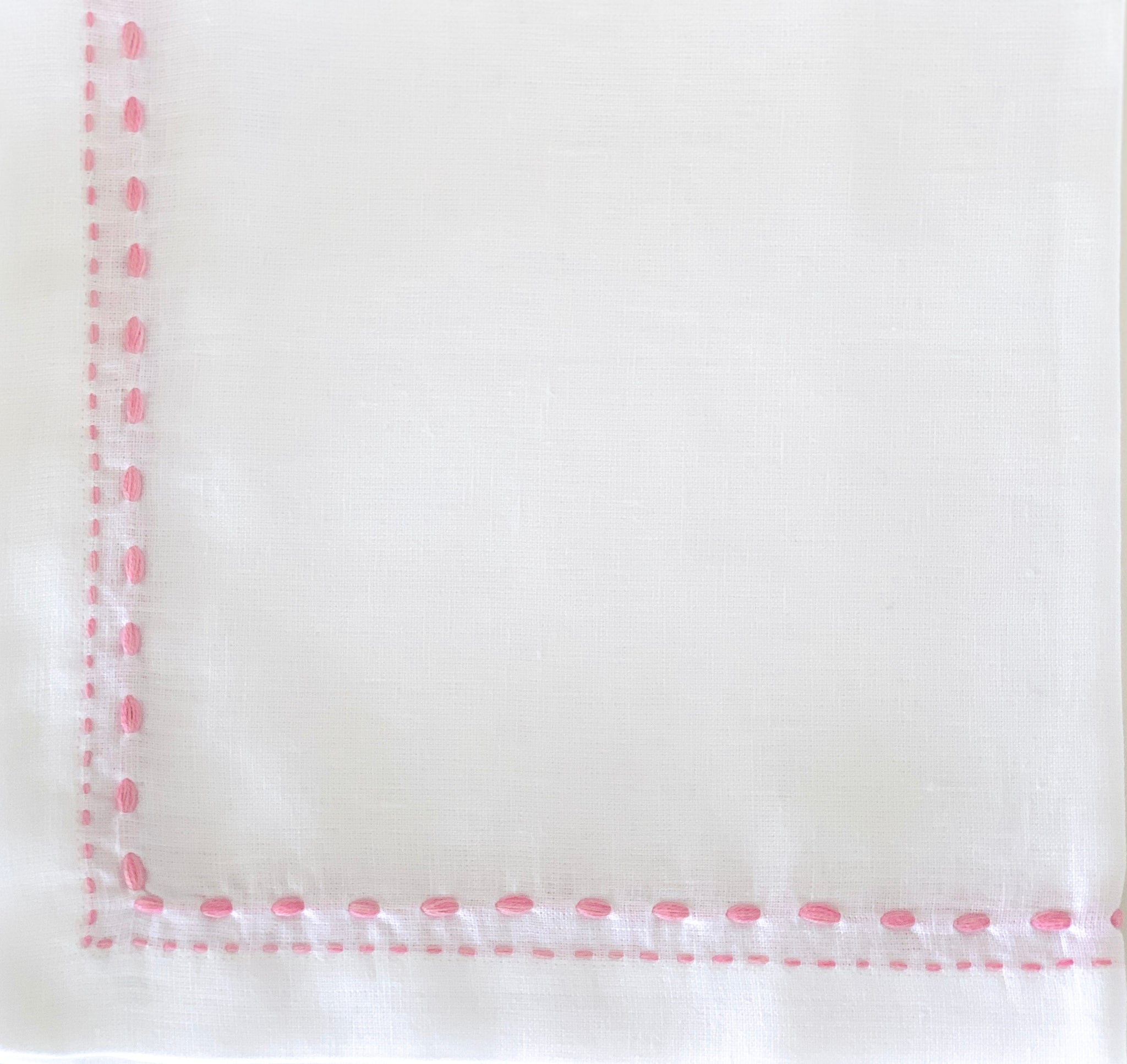 Pink Double-Stitched Napkin