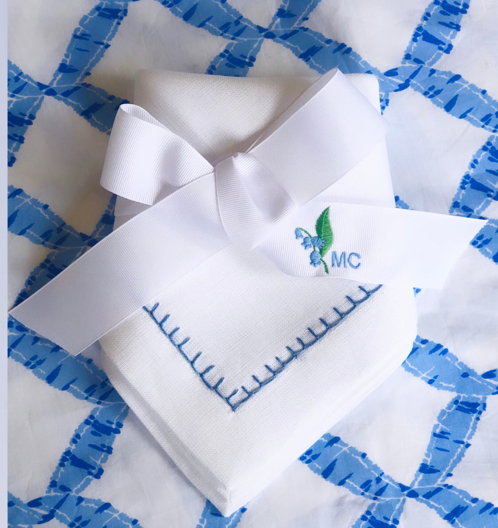 Blue and Green Lily of the Valley Ribbon