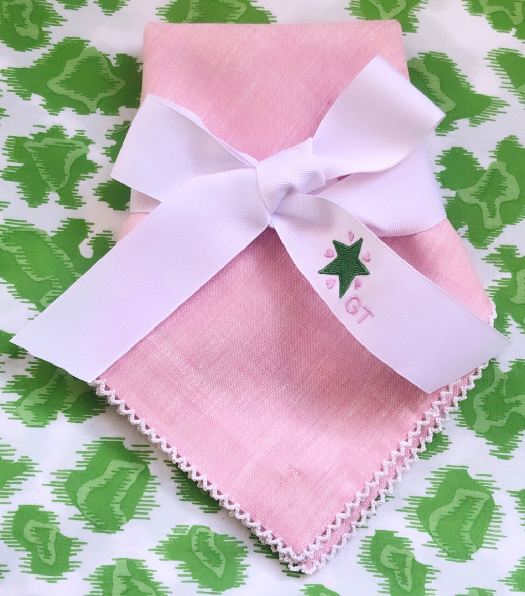 Green Star and Pink Hearts Ribbon
