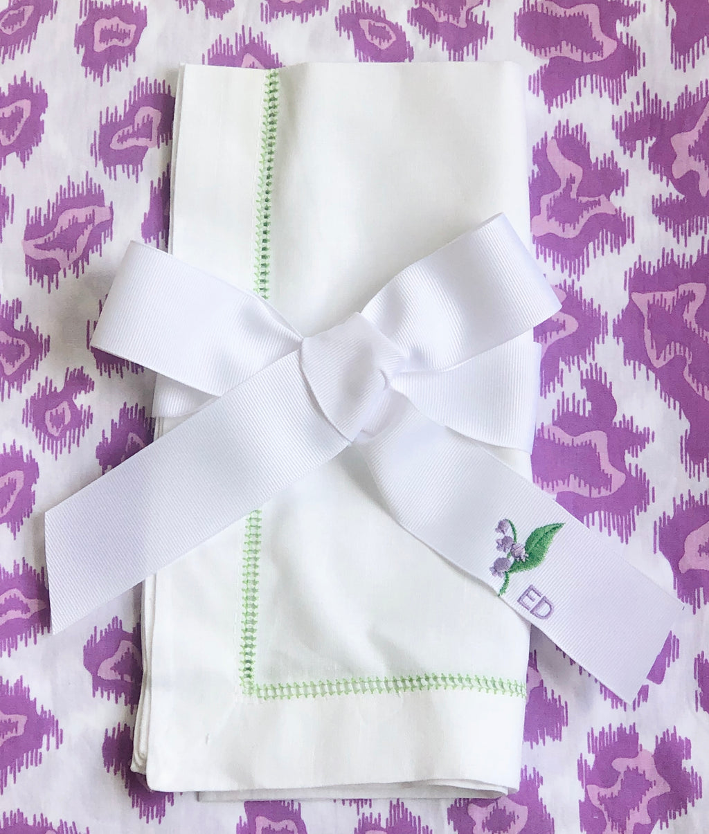 Lavender and Green Lily of the Valley Ribbon