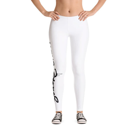 SmokeCrew OG Leggings (White) - SmokeCrewCo Cannabis Streetwear Brand