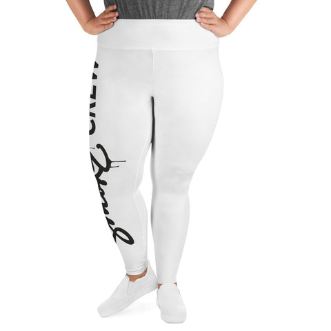 SmokeCrew OG Plus Size Leggings (White) - SmokeCrewCo Cannabis Streetwear Brand