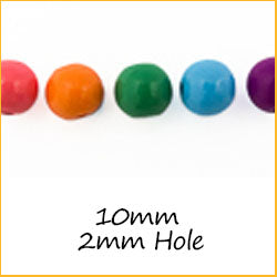 10mm Beads with 2mm Hole