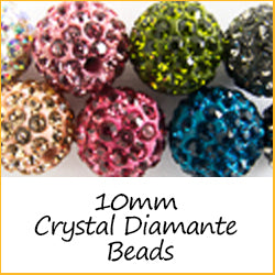 10mm Crystal Diamante Beads