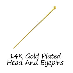 14K Gold Plated Head And Eyepins