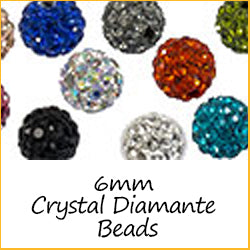 6mm Crystal Diamante Beads