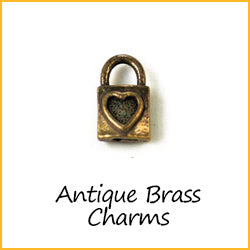 Antique Brass Charms