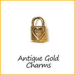 Antique Gold Charms